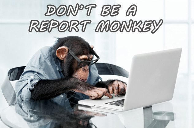 Don't Be A Report Monkey